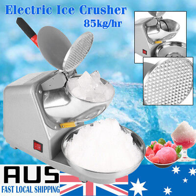 Ice Shaved Snow Cone Maker 85kg/h Electric Ice Crusher Smoothie Machine Kit AU