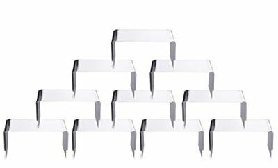 """10 PCS Clear Acrylic Display Risers Showcase for Jewelry 4""""x 3x 2 Lot of 10"""