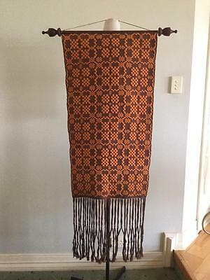 Vintage Retro Handmade Woven Wall Art Custom By Brian Skeet Esq 100% Handwoven