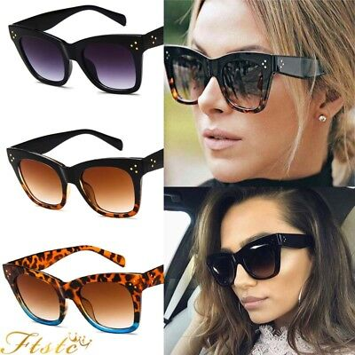 Womens Ladies Oversized Cat Eye Sunglasses Outdoor Vintage Style Retro Shades AU