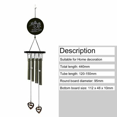 Amazing Antique Bronze 8 Tubes Bells Wind Chimes Yard Garden Outdoor Decor L@