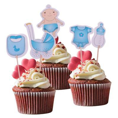 Baby Shower Cake Topper 20Pcs Its A Boy Cake Decorating Kids Party Supplies BS