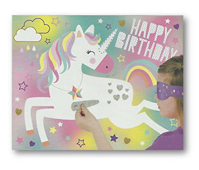 Unicorn Party Game like Pin The Tail On The Donkey Kids Party Childs Game Poster