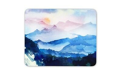 Watercolour Mountains Mouse Mat Pad - Mum Sister Brother Gift PC Computer #8738