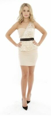 Little Mistress Lace Dress Size 10 S Small  BNWT RRP £70 ASOS Very Littlewoods