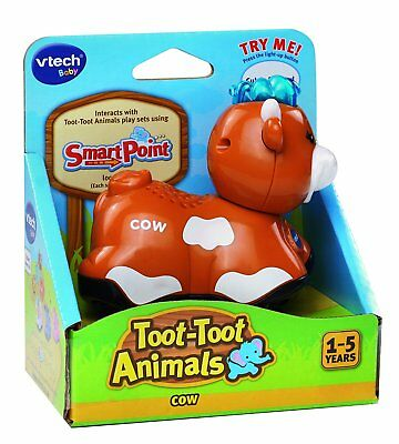New Vtech Toot Toot Animals COW Educational Learning Toy w/ Lights Sounds Music