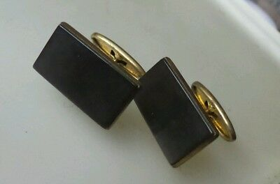 RUSSIAN VINTAGE USSR BRASS CUFFLINKS STALIN ERA 1953 袖扣 Russia