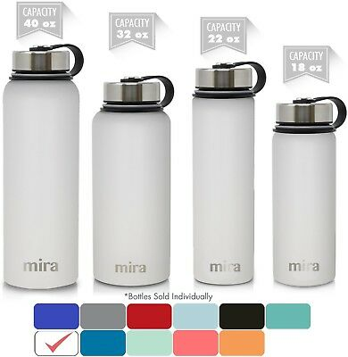 MIRA 40 Oz Stainless Steel Vacuum Insulated Wide Mouth Water Bottle | Thermos