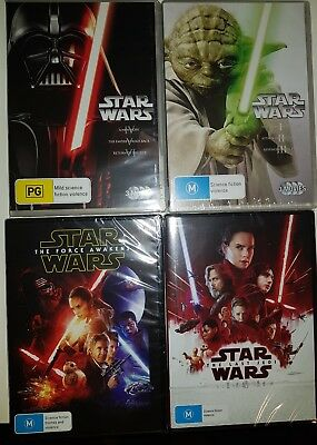 "Star Wars Complete Movie Collection Episode I - Viii Dvd Box Set 8 Disc R4 ""New"""