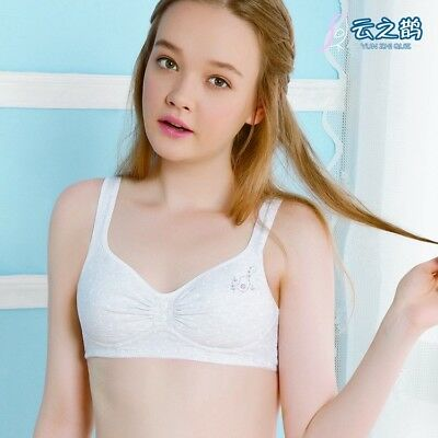 Puberty Girls Training Bras Student Underwear Cotton Fasteners Brassiere Padded