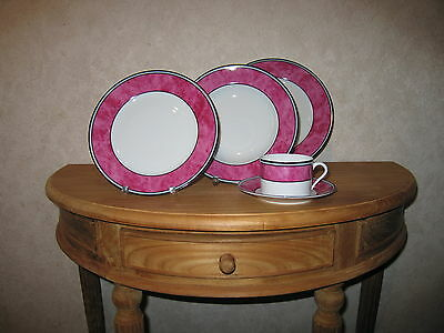 PHILIPPE DESHOULIERES *NEW* CORDOUE Pourpre 5647 Set 3 Assiettes + 1 Tasse
