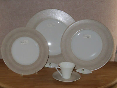 PHILIPPE DESHOULIERES *NEW* GALILEUM SABLE 7307 Set 3 Assiettes + 1 Tasse Plates
