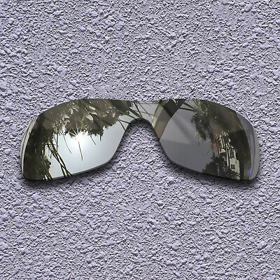 8dee0115aced8 Silver Titanium Mirror Polarized Replacement Lenses For-Oakley Antix
