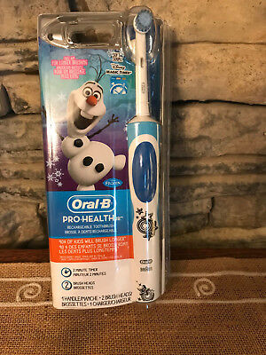 Oral-B Pro-Health Jr. Olaf Frozen Rechargeable Toothbrush 2 Minute Timer Soft