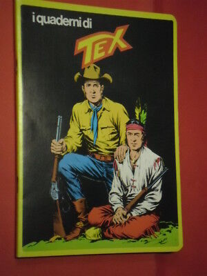 RARO QUADERNO TEX- SERIE GIALLA RETRO CON FUMETTO-daim press e mondadori tiger