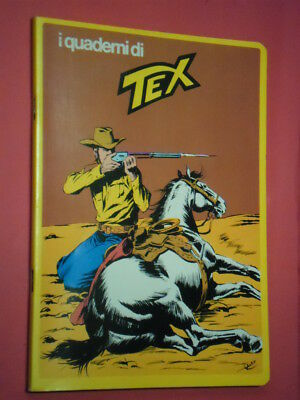 RARO QUADERNO TEX- SERIE GIALLA RETRO CON FUMETTO-daim press e mondadori cavallo