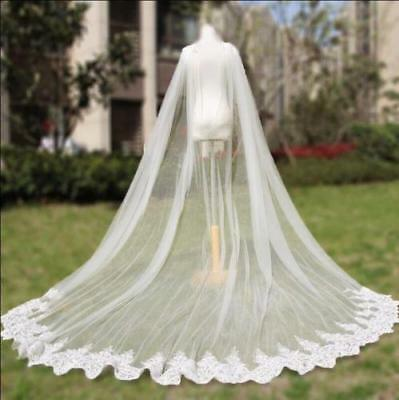 Cathedral Length Wedding Cloak Lace Long Bridal Accessories Cape