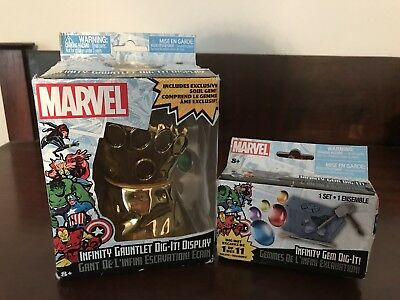 Marvel Infinity Gauntlet Display & Infinity Gem Dig It! NIP