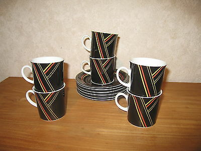 WINTERLING *NEW* Set 6 Tasses à Moka + Soucoupes Cups with coasters