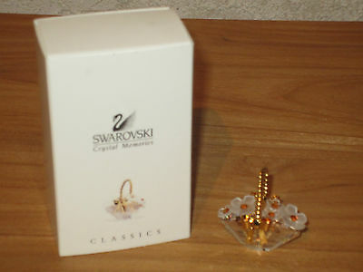 SWAROVSKI MEMORIES *NEW* Corbeille de fleurs Flower Basket 171160 L.4,6cm