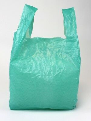 Plastic Vest Carrier Green Bags *all Sizes* - Supermarkets Stalls Shops