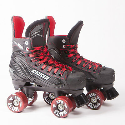 Bauer Quad Roller Skates - NS - 2018 Model -  Black/Red Airwaves