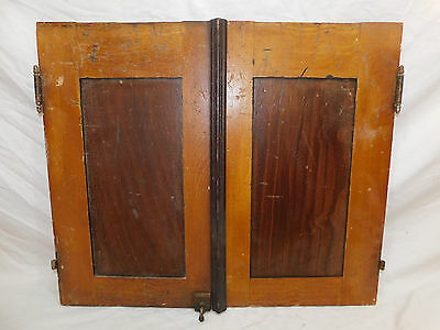 Beautiful Antique Craftsman Double Cabinet Doors   C. 1910 Fir Architectural Salvage