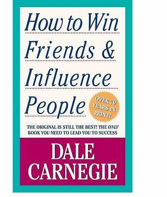 How to Win Friends and Influence People by Dale Carnegie a paperback book