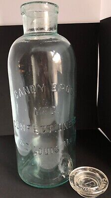antique Candy Bros. glass bottle
