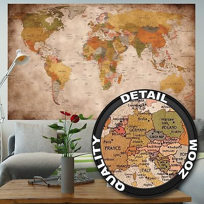 World map poster wall art decor vintage style large laminated large world map xxl poster vintage home decor art painting home wall decoration gumiabroncs Images