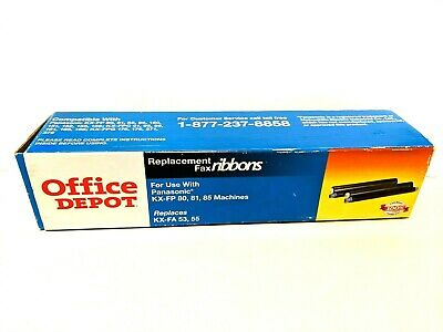Office Depot Replacement  FAX RIBBONS for PANASONIC KX-FP 80, 81, 85 Machines