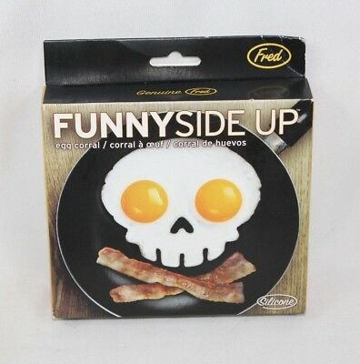 NEW Funny Side Up Fred Skull Fried Egg Mold  - Safe Silicon - Halloween Food