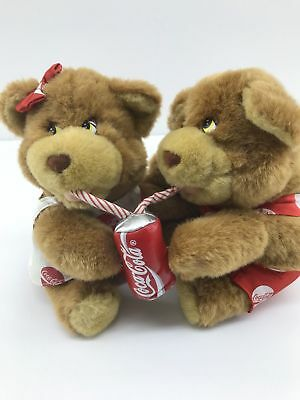 1993 Coca-Cola Play By Play, Two Bears Sharing A Coke, Stuffed Animals Plush