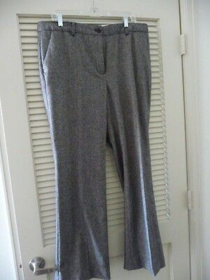 Talbots Raleigh Brown Tweedy Lined Pants Size 14
