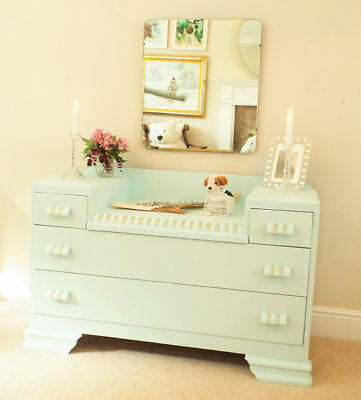 Lebus dressing table Upcycled 1960s painted dressing table with Mirror