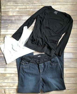 Womens Maternity Nursing LOT - OLD NAVY TOPS & DUO JEANS XXL 2XL