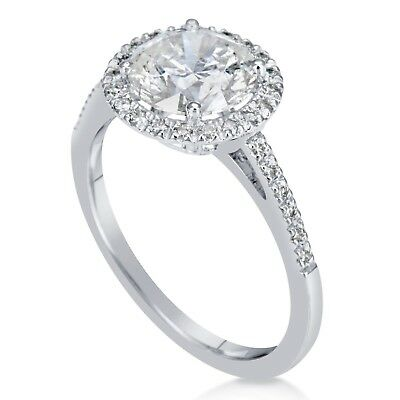 2.20 Ct Round Cut F/vs1 Diamond Solitaire Engagement Ring 14K White Gold