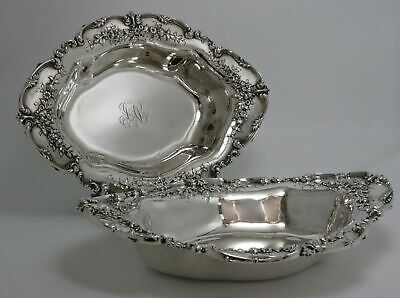 Antique Sterling Silver Entree Bowls by Redlich Pair