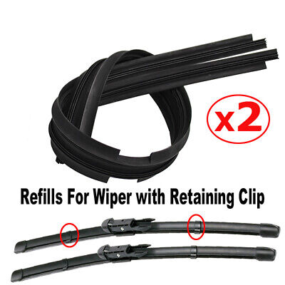 "2PCS of Windscreen Wiper Blades Rubber Refills 26"" 8mm Front Window Refill"