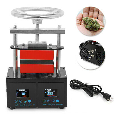 """High Quality Professional  2.4*4.7"""" Rosin Press Hand Crank Duel Heated Plates"""