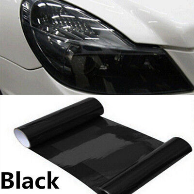 30x60cm Car SUV Tint Headlight Taillight Fog Light Vinyl Smoke Film Sheet Black