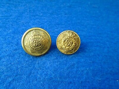 2 X  British Indian Army Medical Service Officers Gilt Buttons, Jennens