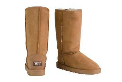OZWEAR Connection Classic Long Ugg Boots (Chestnut, Size 8M / 9W US)