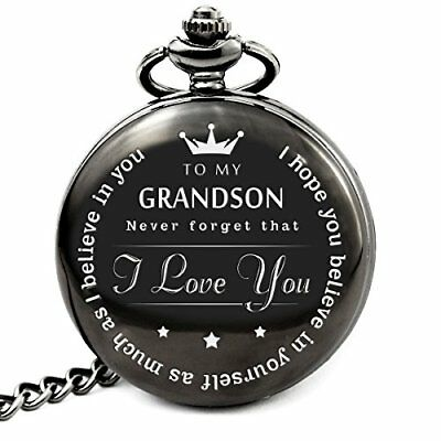 """""""To My Grand Son """" Pocket watch to grandson Gifts From a Grandpa Gr..."""