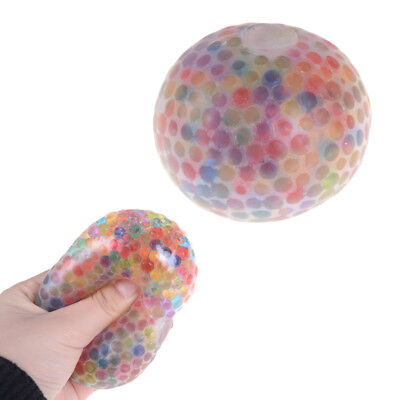 Spongy Rainbow Ball Toy Squeezable Stress Relif Squishy Relax Ball FO