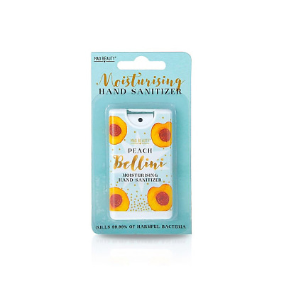 Mad Beauty Happy Hour Peach Bellini Cocktail Scented Pocket Hand Sanitiser