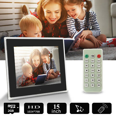 15 Inch HD1080 LED Digital Photo Picture Frame MP4 &Remote Control & 2G SD Card