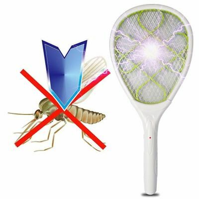 Electric Fly Mosquito Green Swatter Bug Wasp Zapper Racket Insect killer control