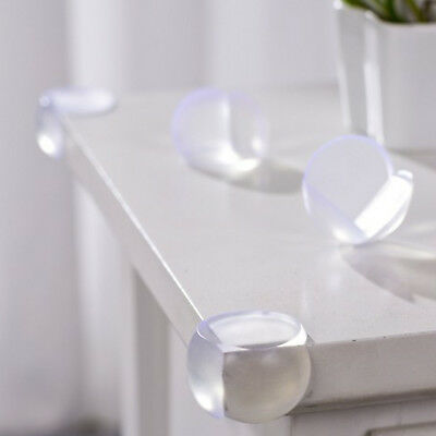 8Pcs Clear Table Desk Corner Edge Guard Cushion Baby Safety Bumper Protector HE7