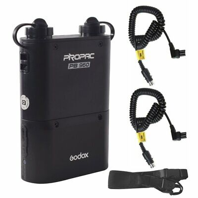 Godox PB960 Black Output Flash Power Pack BT5800 5800mAh Battery Kit for Canon